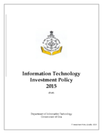 Information Technology Policy 2015 GITP