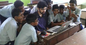 Android developer Prajyot Mainkar with Neura School Kids